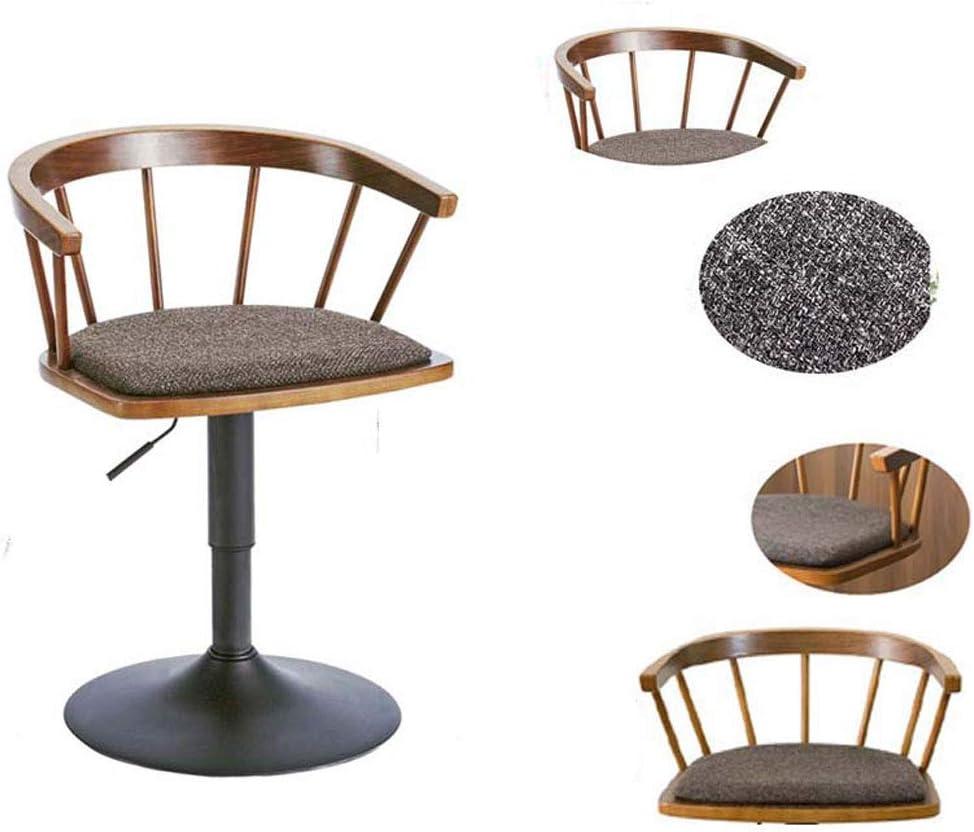 SLL- Tabouret de Bar en Bois Massif Tabouret Haut Chaise de Bar rotative Chaise épurée et Minimaliste Accueil Chaise de Levage Moderne (Color : A) E