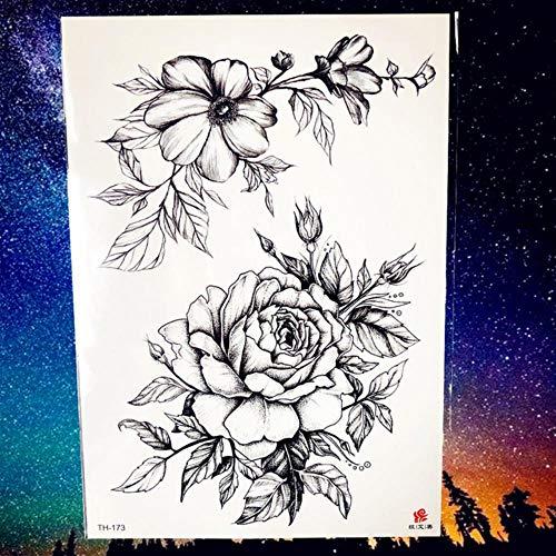 ALANG Henna Mandala Blumenvogel Totem Temporäre Tattoo Aufkleber Feder wasserdichte Tattoo Body Art Fake Tatoo, PTH173