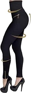 HHLJ Women's Sexy Elastic High Waist Body Shaping Leggings Tights Bottom Shapewear Pants Jeggings Trousers