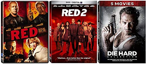 The Bruce Willis Kicking Butt and Taking Names Collection - 7 Movies (RED 1-2 + Die Hard 1-5)