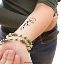 10 x Believe - Temporary Tattoo Lettering in Black (10)