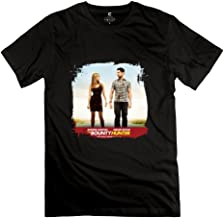 YONGDE Men's Bounty Hunter Gerard Butler Jennifer Aniston T Shirt XL Black