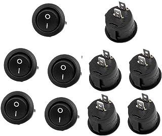 Auto tuimelschakelaar - aan-/uit-zelfvergrendelingsknop 250V 6A ronde wipsluiting