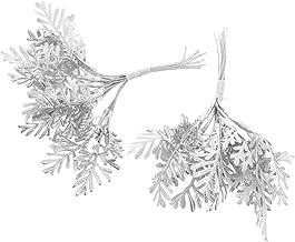 KESYOO 2pcs Christmas Tree Picks Reusable Lifelike Vivid Pine Leaf Pine Cone Stem Needles DIY Holiday Branch Xmas Tree Sea...