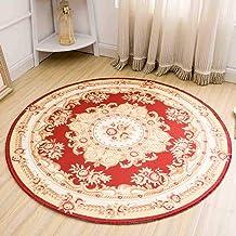 Warm Rugs Bedroom Living Room Coffee Table Polyester Fiber Round Carpet Non-Slip wear-Resistant Door mat,5,60cm