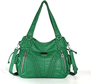 Enerhu Women Handbag Ladies Multi-Pocket Purse Shoulder Bag PU Leather bags for Shopping