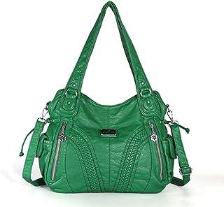 Enerhu Women Handbag Ladies Multi-Pocket Purse Shoulder Bag PU Leather bags for Shopping