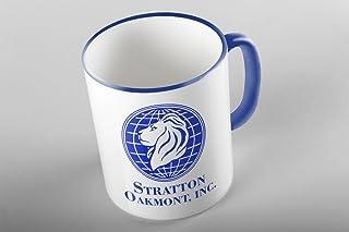 Bullshirt Tasse, Motiv Stratton Oakmont, Inc., Blau, zweifar