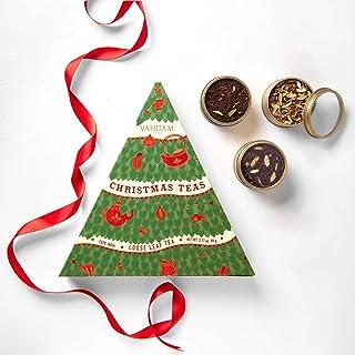 VAHDAM, Christmas Tea- 3 Tin Caddy Set with Flavorsome Teas | Holiday Gift, Festive Gift Set, Christmas Joy Tea Set