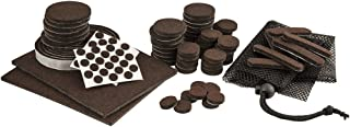 SoftTouch Self-Stick Heavy Duty Furniture Felt Pads, Large 108 Piece Value Pack with Free Storage Bag! Protect your Hardwood Floors from Scratches - Use on Tables, Chairs & Under Small Appliances