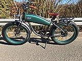 RKM Roller-King-Motors - Bicicleta eléctrica, diseño Retro, Color Verde y Blanco