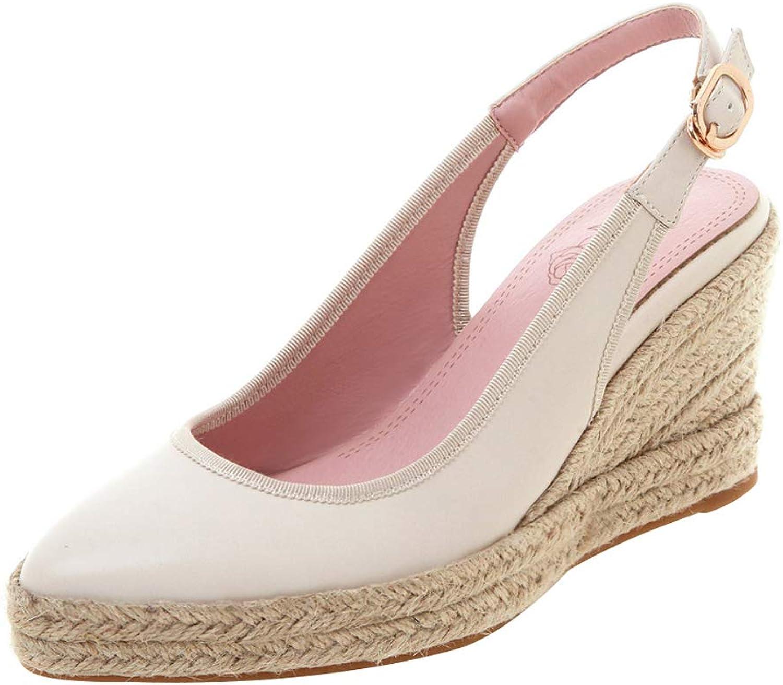Vitalo Womens Pointed Espadrille Slingback Pumps Platform Court shoes