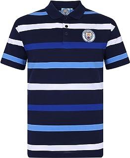 Manchester City FC - Polo oficial para hombre - A rayas - Azul