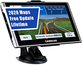 CARRVAS GPS Navigation for Car,Truck GPS,7 Inch Voice Turn Direction Guidance,Support Speed and Red Light Warning Pre-Inst...