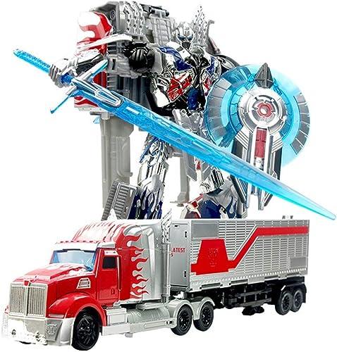 A la venta con descuento del 70%. LIYONG Transformers 5 Juguetes para Niños Optimus Optimus Optimus Robot Modelo Niño Juguete muñeca de plástico muñeca (Color   B)  gran selección y entrega rápida