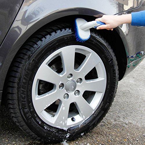MICHELIN 92560 Reifenbürste mit Ergonomisch Geformten, Rutschhemmender Griff