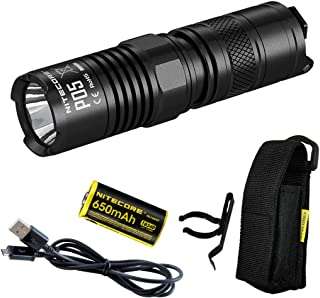 Nitecore P05 460 Lumens Instant Strobe EDC Tactical LED Flashlight with USB Rechargeable Battery and LumenTac USB Charging Cord