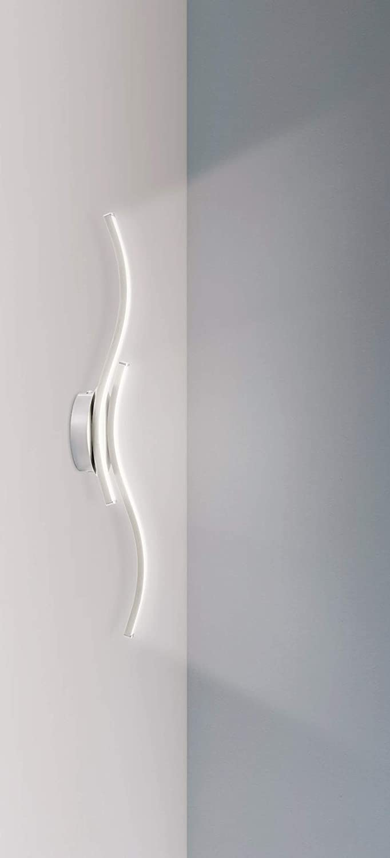 Trango 2-flammig LED Deckenleuchte in Wellen Form, Badleuchte, Wandleuchte TG3159 incl. 2x 5 Watt LED Modul Leuchtmittel 3000K warmweiß direkt 230V Deckenlampe, Wohnzimmer Lampe, Deckenstrahler 2-flame Wave Tg3159