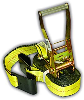 Everest Premium Ratchet Tie Down – 1 PK – 2 IN – 27 FT – 3333 LBS Working Load – 10000 LBS Break Strength – Flat Hook – Cargo Straps Perfect for Moving Appliances, Lawn Equipment and Motorcycles