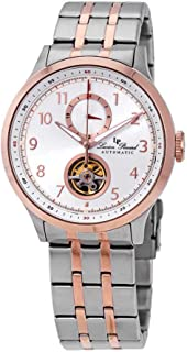 Lucien Piccard Open Heart GMT II Automatic Two-Tone Men's Watch LP-28010A-22S-RB