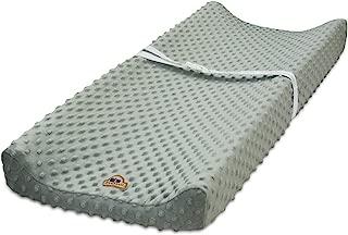 BlueSnail Ultra Soft Minky Dot Changing Pad Cover (Gray)