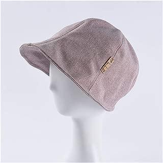 SHENTIANWEI Hat Lady Couple Japanese Simple Short Fisherman hat Front Long Short Outdoor Sun Protection Sun hat Sun hat (Color : Purple)