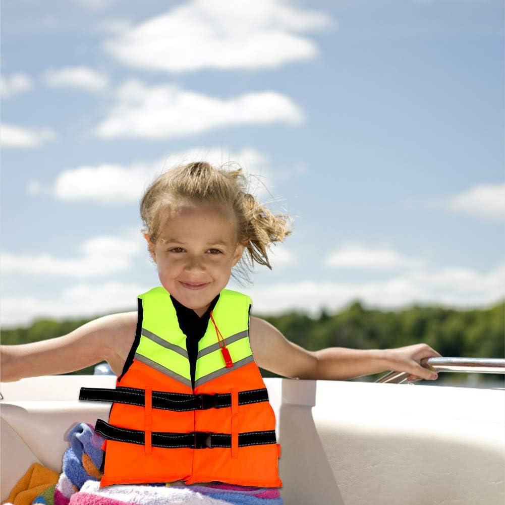 Surfing Kids Life Vest Adjustable Safety Swimming Vest Children Float Jacket Buoyancy Aid Swim Jackets for Water Sports Kayaking Paddle Boarding Life Jackets Drifting Canoe