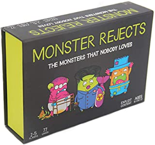 Monster Misfits And Monster Rejects Card Game The Monsters That Nobody Loves Family Party Board Game Team Competitive Game...
