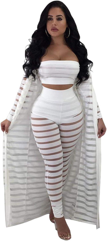 Sexy Sheer Mesh Bodysuits Women Piece Set Jumpsuit