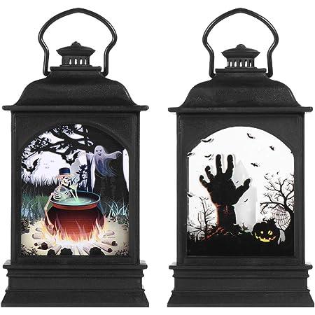 MiXXAR Halloween Led Nachtlicht Laternen Batteriebetrieben Retro Laterne Halloween Laterne Dekoration Bar Home Party Dekoration Requisiten
