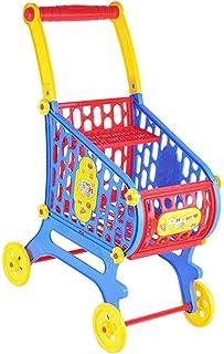 Almencla 組み立てられたスーパーマーケットのショッピングカートプレイセットに80cmのベビードールキッズおもちゃ