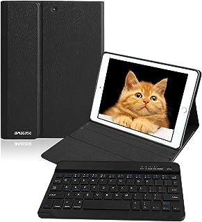 iPad 9.7 キーボード付き ケース 脱着式 ワイヤレス Bluetooth キーボード 対応 iPad 6世代- iPad 5世代- iPad Air2 /Air- iPad Pro 9.7 キーボードカバー オートスリープ機能 多角度調...