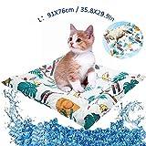 NINI Pet Gel Gato Fresco del cojín, Resistentes al Desgaste Mascota Fresca ojín, Larga duración de enfriamiento cojín del Animal doméstico,Muy Adecuado para el Verano Caliente Perros,S