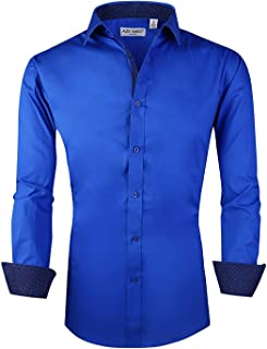 Mens Casual Button Down Shirts Long Sleeve Regular Fit Men Shirt