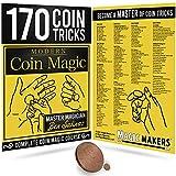 Magic Makers Modern Coin Magic 170 Coin Tricks Kit