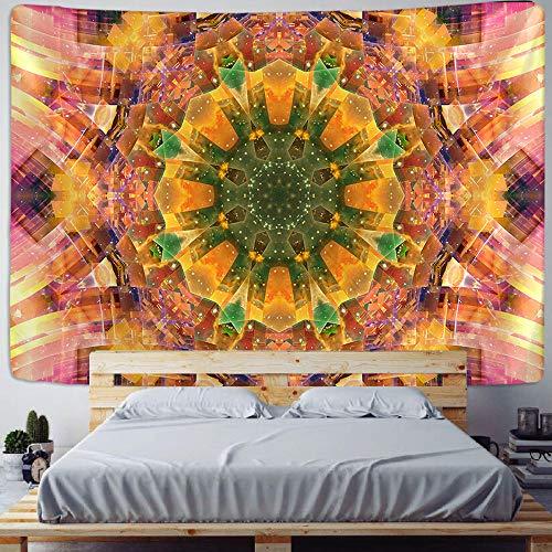 WAXB Tapiz De Mandala Multifuncional para Colgar En La Pared Tapiz con Estampado Bohemio Sábana De Cama Estera De Yoga Manta De Picnic Decoración del Hogar Regalo 51 X 59 Pulgadas