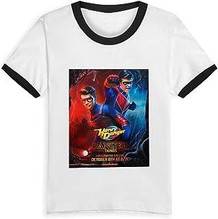Yesbnow Kid T Shirt Danger TV Show of Henry 3D tee Baseball Short Sleeve Cotton Shirts Top for Boys Girls Kids