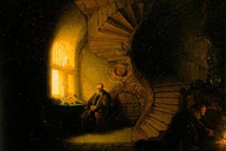 Rembrandt Philosopher in Meditation Art Print Laminated Dry Erase Sign Poster 18x12