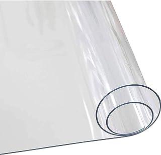 Transparent Chair Mat Hard Floor Mat, 0.5mm Transparent Pvc Tablecloth, Thicken Pvc Transparent Crystal Plate Table Cloth ...