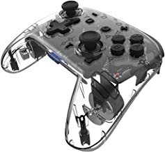 KAWALILI Transparent Black 7 Colors Lights Game Handle Wireless Flexible Controlling Handle Turbo Speed Up Console Handle