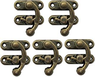 Cyful 5pcs Retro Vintage Style Swing Bag Clasp Closure Lock Latch for Furniture Wooden Box Jewelry Case Bronze Tone