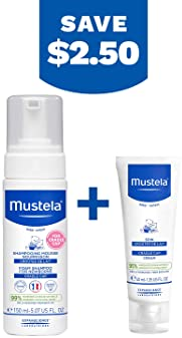 Mustela Baby Cradle Cap Bundle - Natural Baby Shampoo & Cradle Cap Cream - with Natural Avocado - 2 Items Set