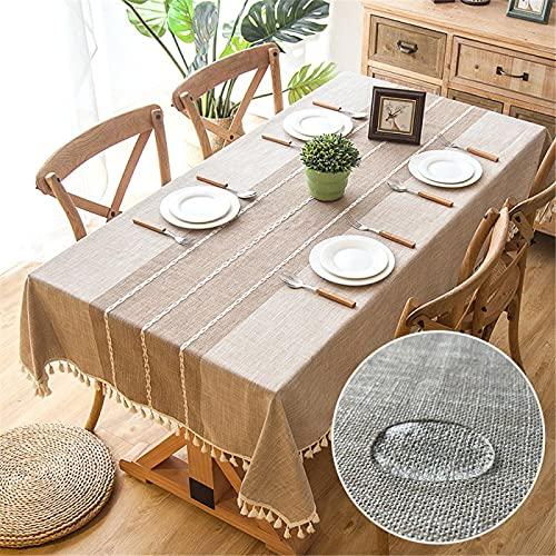 Nappe,nappes pour Table de Jardin,Nappe Picnic,Nappe en Lin avec Gland imperméable à l