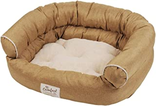 Happy Tails Faux Linen Sofa Bed for Pets, 36 by 24-Inch, Khaki by Happy Tails