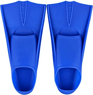 Swimming Training Fins Swim Flippers Travel Size Short Blade,Comfortable and lightweight shoe cover material,For Snorkelin...