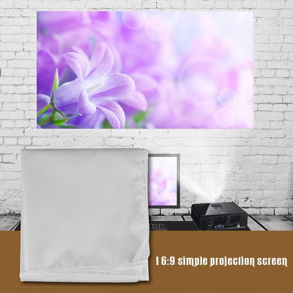 ciciglow 60-120 Projector Curtain, Portable White Color White Projector Screen Projection Screen(120 inches)