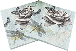 20 napkins fairytale dragonflies as table decoration or for crafts with napkin technique 33 x 33 cm
