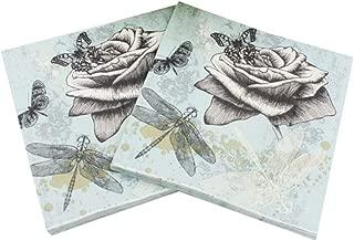 33cm x 33cm Vintage DragonFlies Maki Pack of 20 Paper Napkins//Serviettes 3 Ply