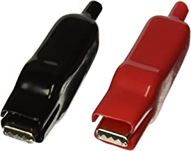 Uxcell 78mm 塑料绝缘盖测试铅鳄鱼夹夹具(2 件)