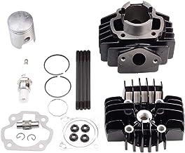 GOOFIT Kit Cilindro, Moto 40mm Pistones y Arandelas y Juntas y Bobina de Encendido para 2 Tiempos 60cc PW50 PY50 QT50 MA50 Pit Bike Scooter Ciclomotor Negro